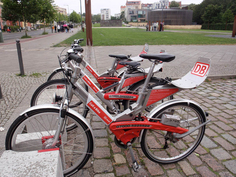 Bike share terminal in Berlin