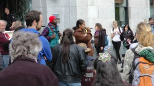 Resident protest before Sequel 138 hearing (April 2012)