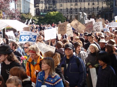 Crowd at Occupy Vancouver