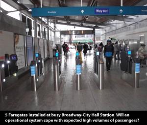 Faregates Installed at Broadway City Hall Skytrain Station