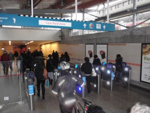 Faregates at Broadway and Cambie