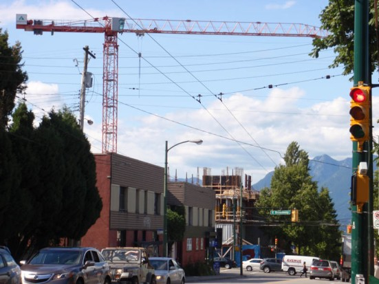 Construction at Fraser and Broadway