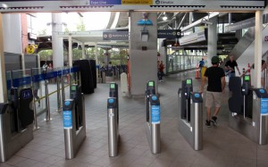 Faregates at Commercial Drive