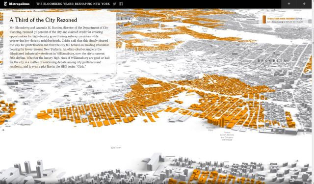 NYT Bloomberg Years, third of city rezoned during tenure, 18-Aug-2013