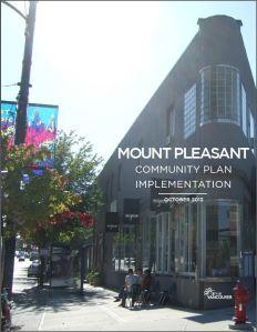 Mount Pleasant Community Plan Implementation doc Oct 2013 cover
