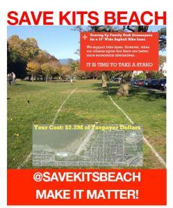 Save Kits Beach poster Oct 2013