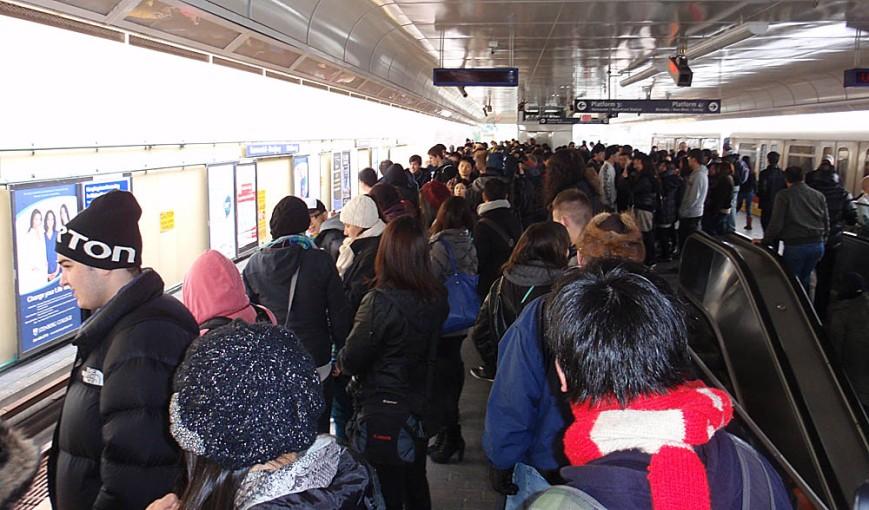 Crowded platform