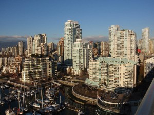Downtown Vancouver from Granville Bridge