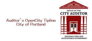 Portland City Auditor tip line logo