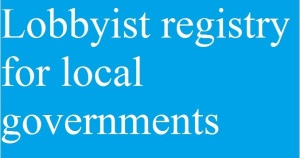 Lobbyist registry for local governments
