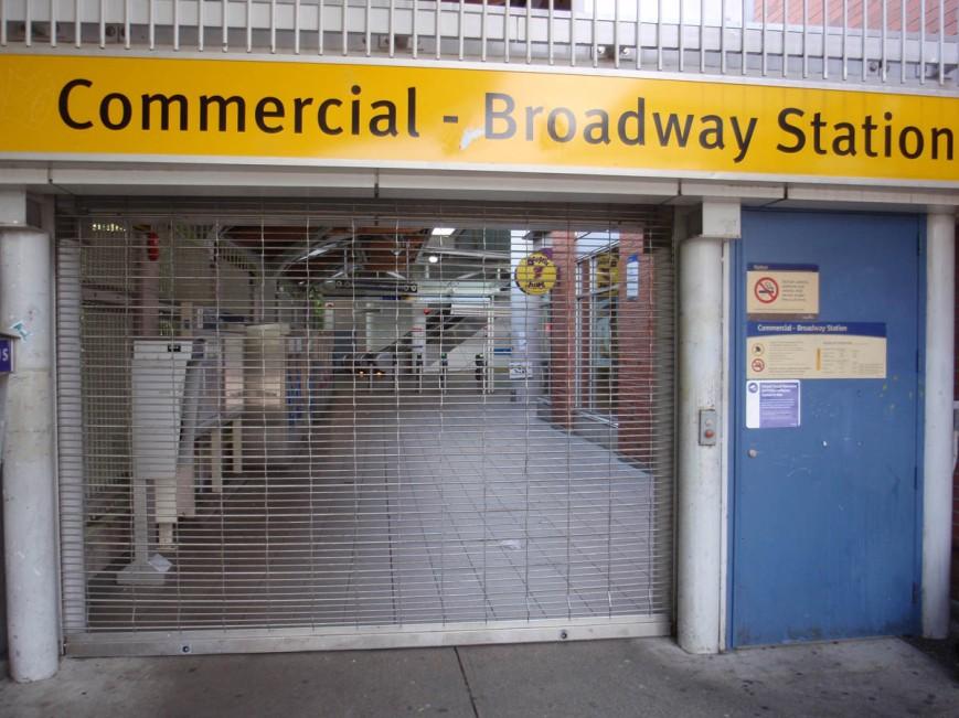 Entrance closed