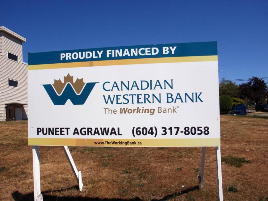 Sign financing