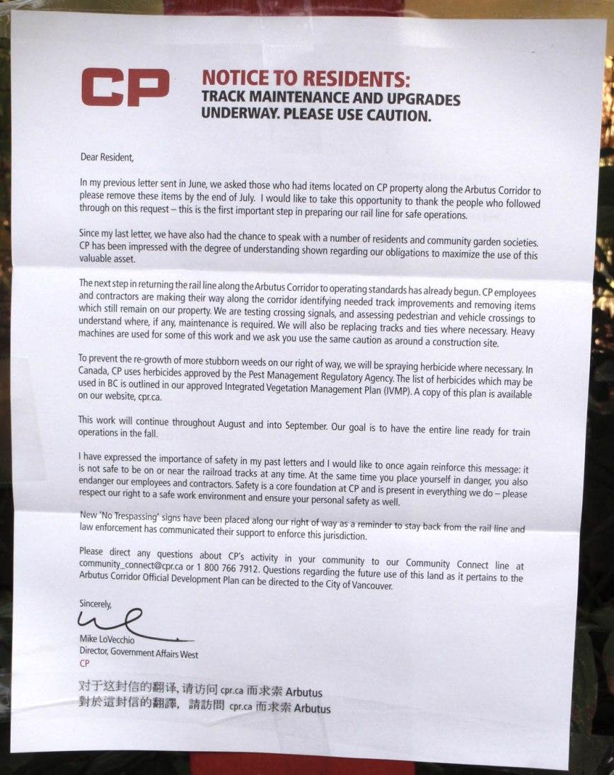 CP notice