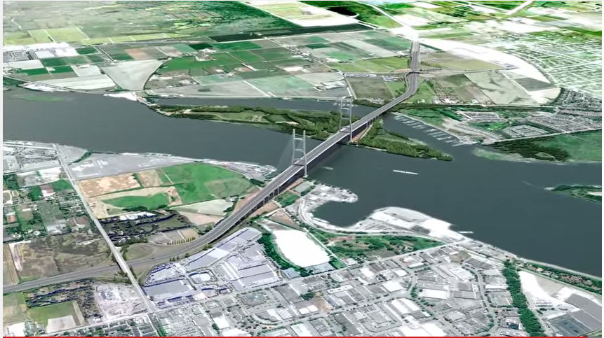 Gov BC image of bridge replacing George Massey Tunnel, from YouTube