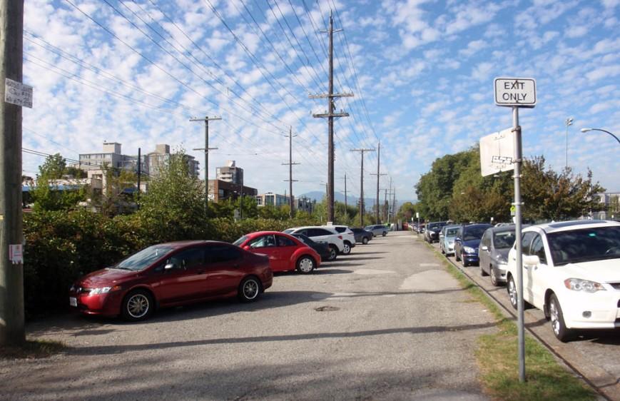 Kerrisdale parking lot