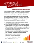 Affordable Vancouver, UBC Robson Sqr debate, 23-Oct-2014, Backgrounder