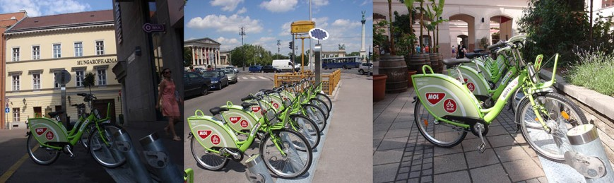 Bike share in Budapest