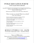 Public Education Forum 27-Oct-2014 Trout Lake cc