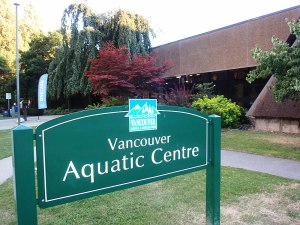 Vancouver Aquatic Centre Sign