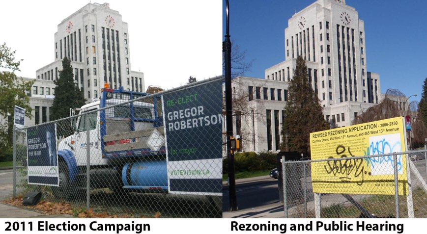 Violations by Vision Vancouver, 2011 election