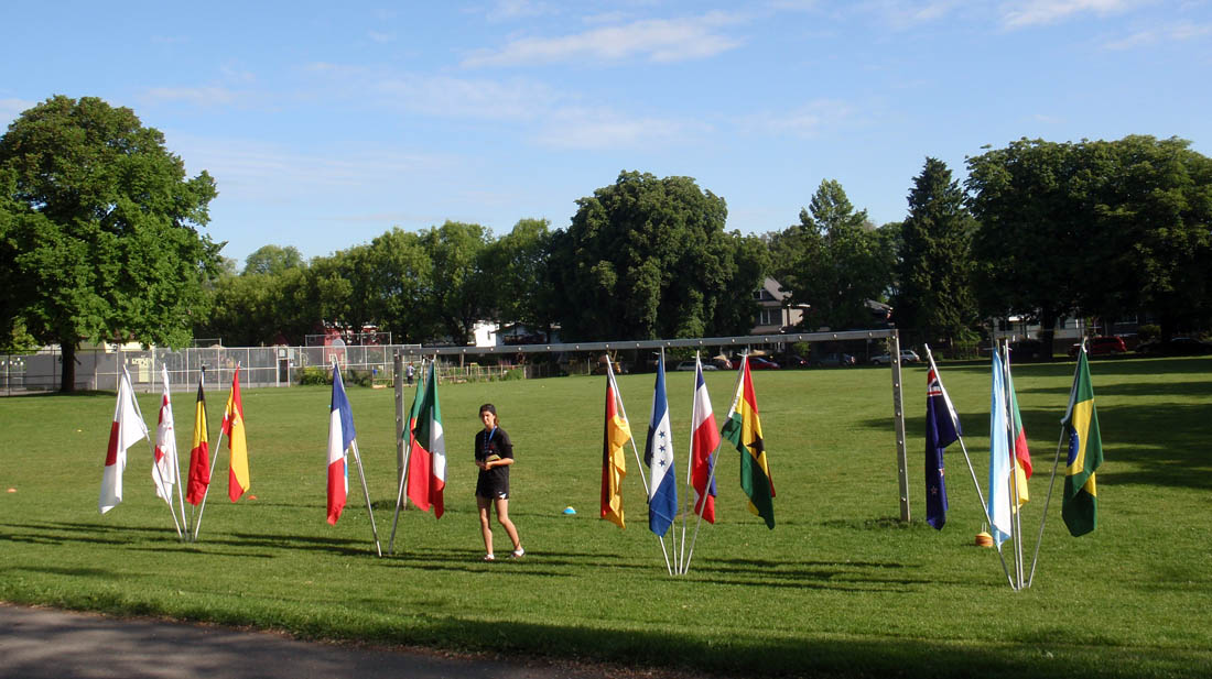 Robson park flags soccer field