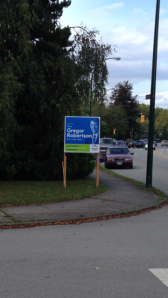 Vision Vancouver Lawn Sign, 1-Oct-2014
