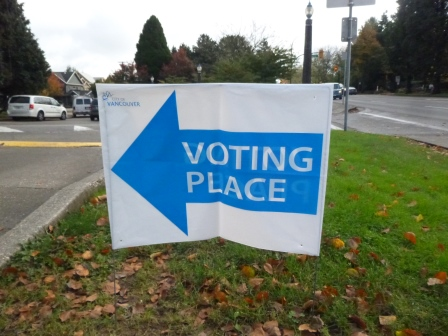 Voting place sign 2014