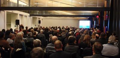 Crowd at Inaugural Park Board meeting