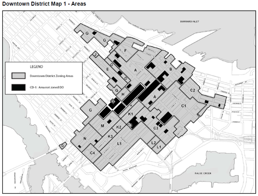 CoV Downtown District Map 1 - Areas, 4-Feb-2015
