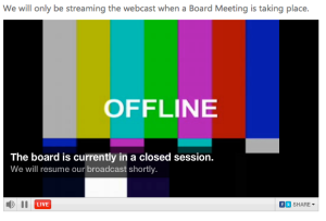 Much of the Metro Vancouver board meeting was offline, closed to the public. Typical.