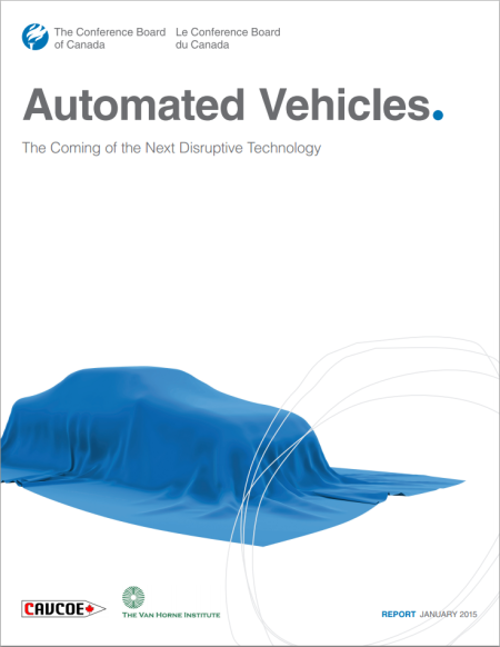 Automated Vehicles report cover, Conference Board of Canada, Jan 2015