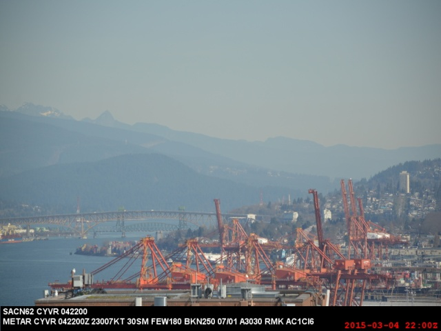 Webcam image at 2 pm, before port fire on 4-Mar-2015