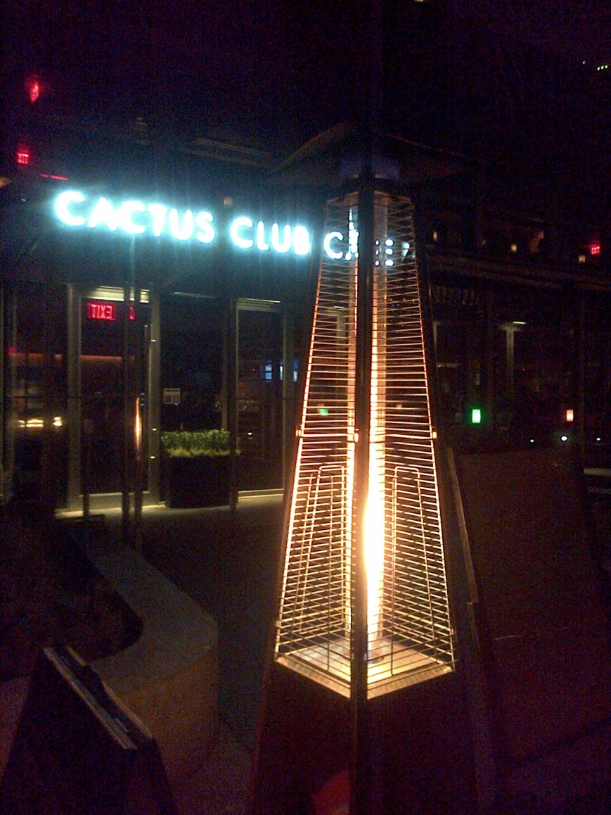 Outdoor heater, Cactus Club English Bay, 2015b