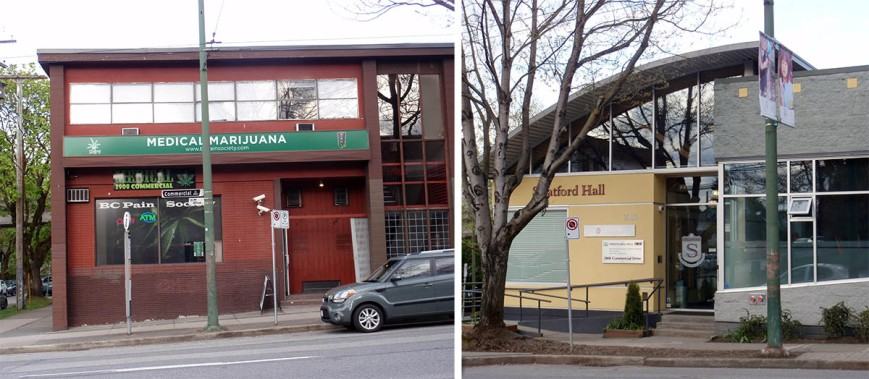 A medicial marijuana dispensary on Commercial Drive is located a block away from a private school