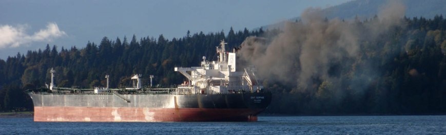 Oil tanker in Burrard Inlet