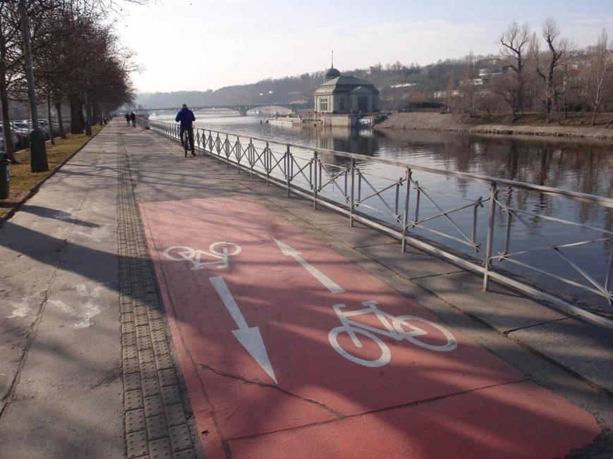 Prague cyclist