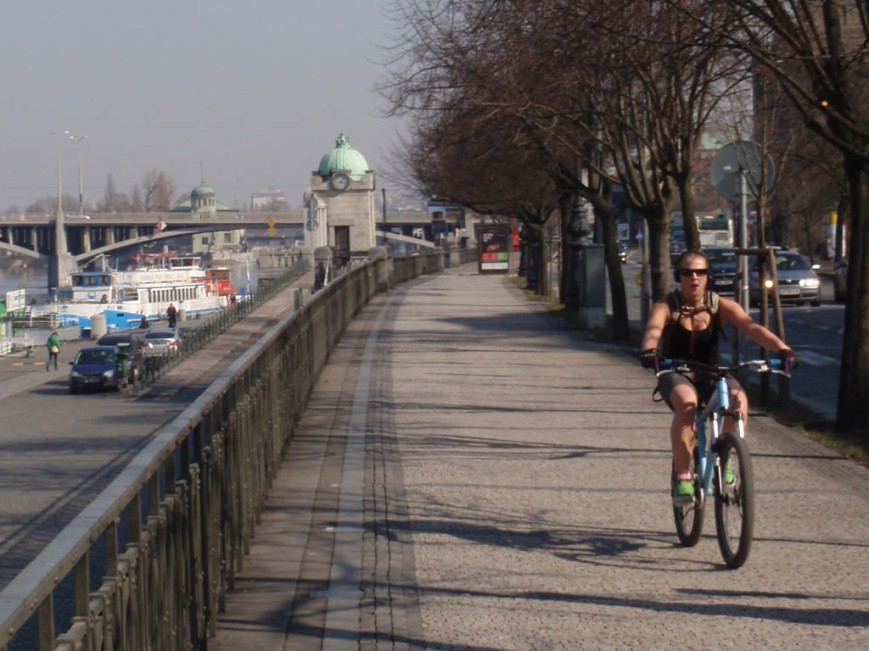 cyclist Prague