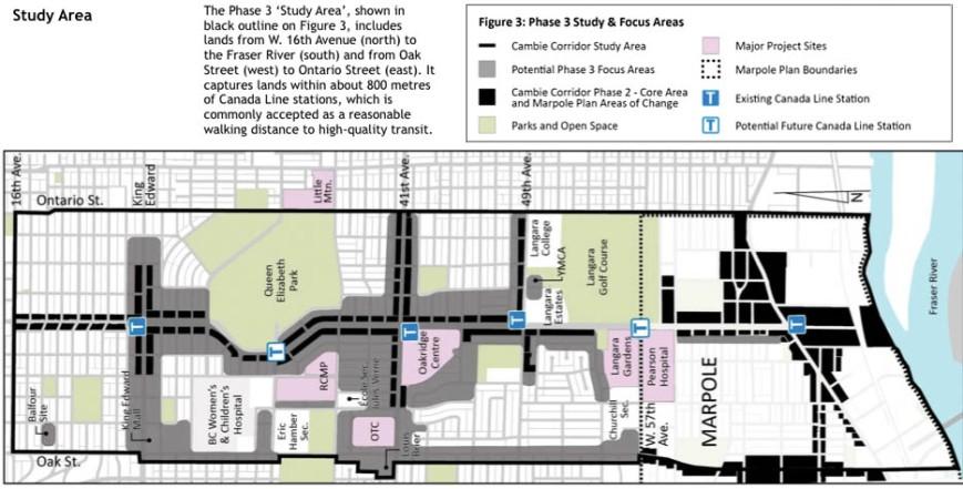 Cambie Corridor Phase 3 Study Area
