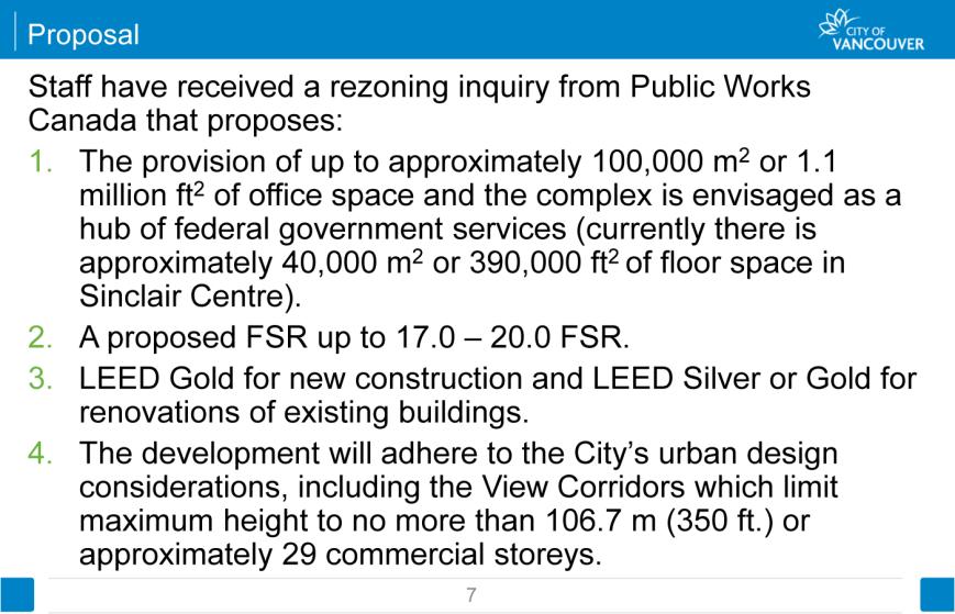 Sinclair Centre proposal