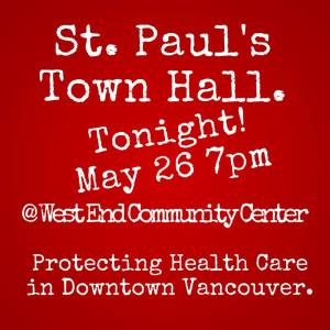 St Paul's Town Hall, 26-May-2015 poster