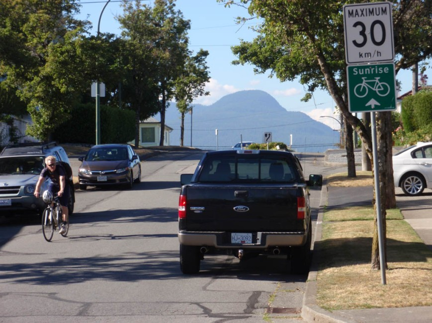 Slocan Street 30km/h speed limit bikeway