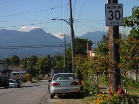 Slocan Street 30km/h speed limit