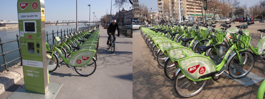 The 'Bubi' bike share in Budapest, Hungary