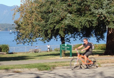 Point Grey Road cyclist