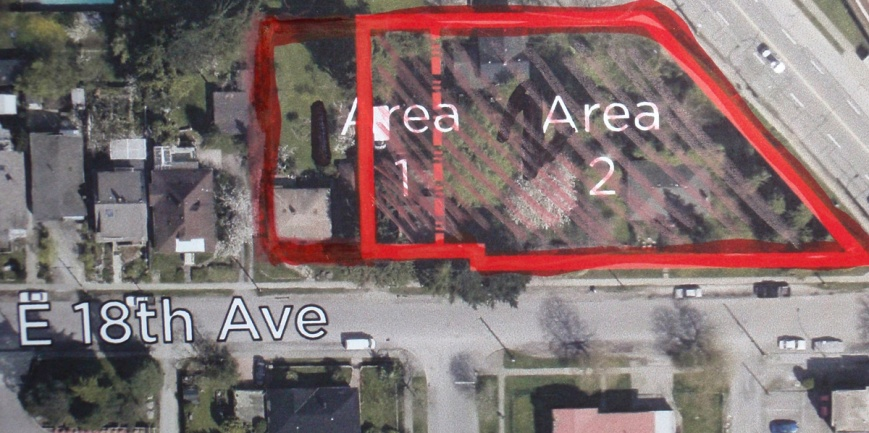 One of the City's panels showed the site for the rezoning incorrectly. Residents corrected the mistake.