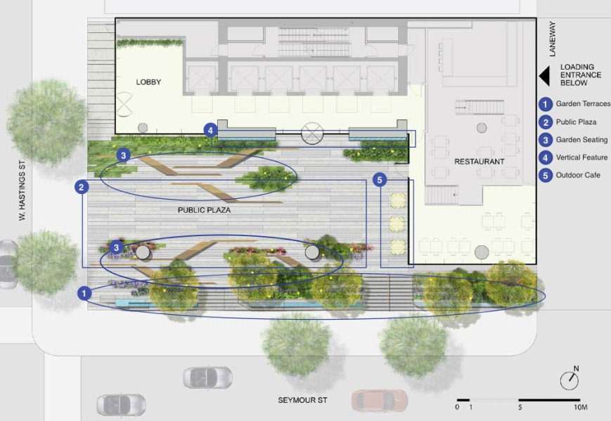 601 West Hastings new plaza