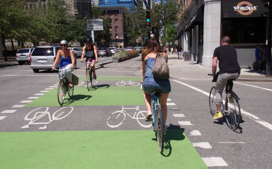 Helmet laws are obeyed by some, but not all of the cyclists in Vancouver