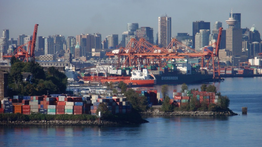 Vancouver Port Skyline