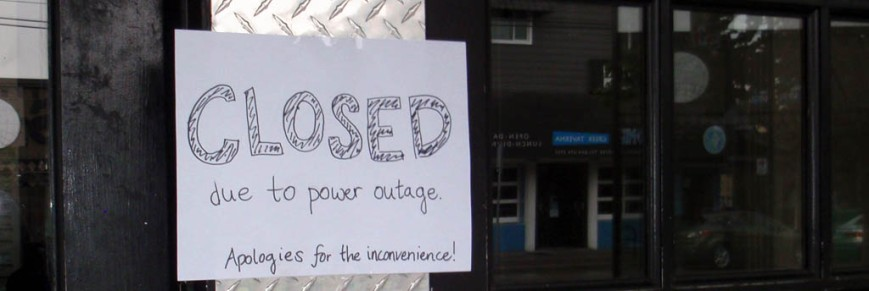closed power outage