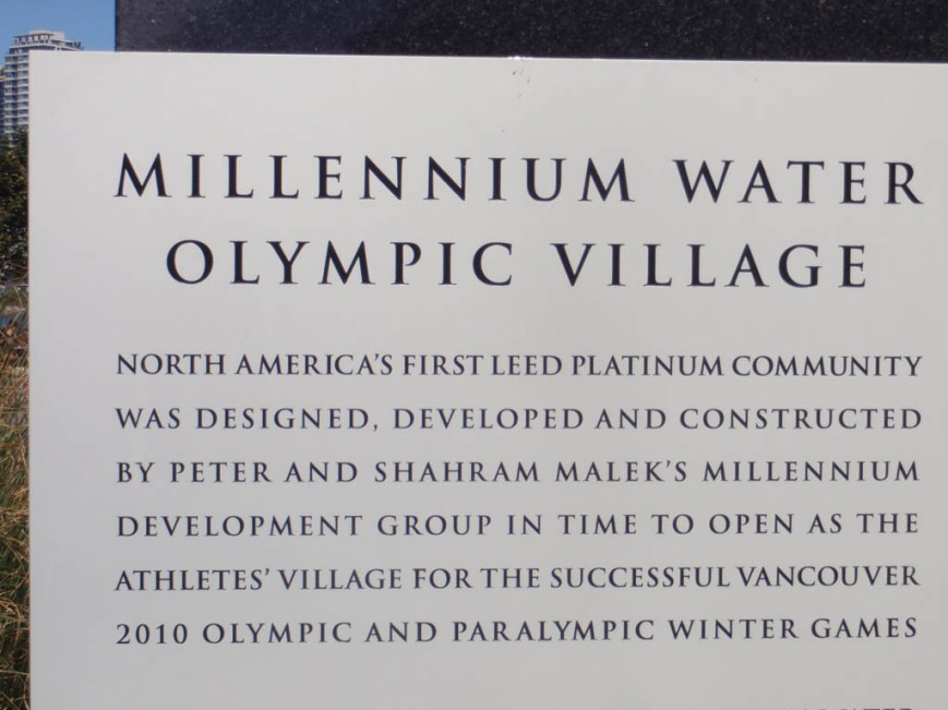 Olympic Village sign